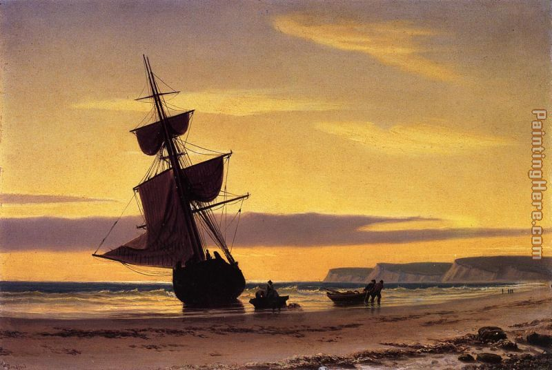 Coastal Scene painting - William Bradford Coastal Scene art painting